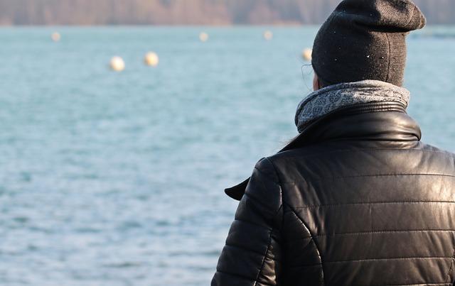Woman, Winter, Female, Waters, Nature, Lake, Alone