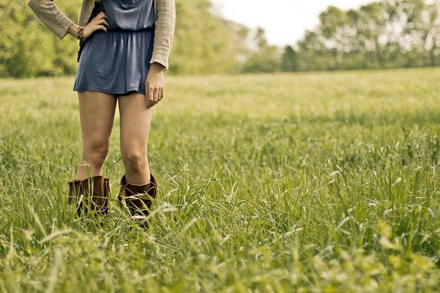 Countrygirl, Girl, Legs, Woman, Female, Field