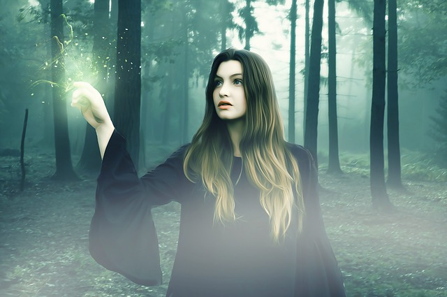 Witch, Female, Woman, Young, Beauty, Fantasy, Dark