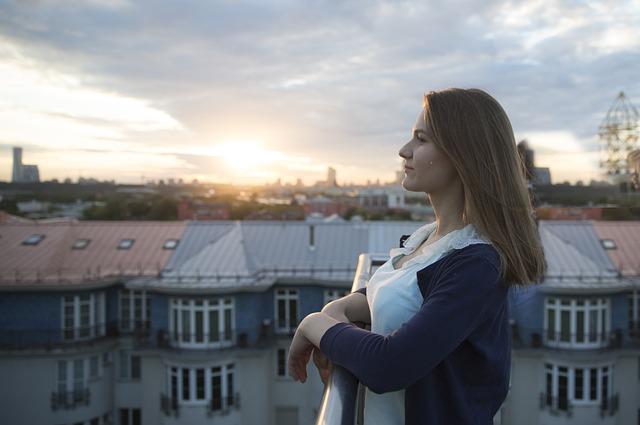Girl, Moscow, Sunset, Woman, Female, Women, Women's