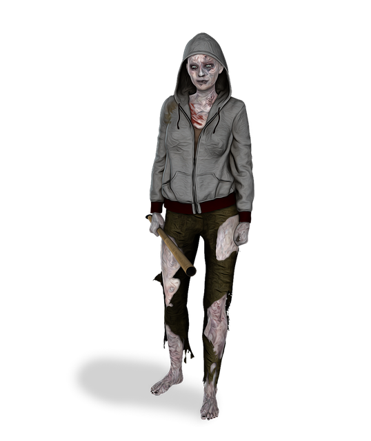 Zombie, Female, Woman, Young, Horror, Creepy, Blood