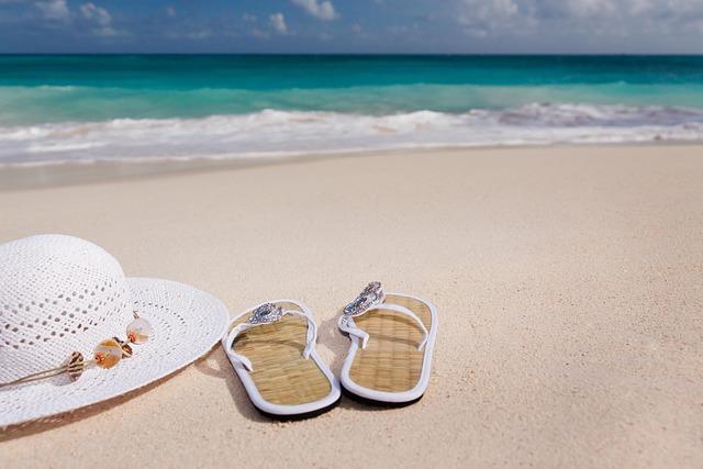 Accessories, Beach, Blue, Feminine, Flip-flops, Hat