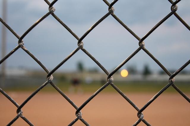Fence, Baseball, Chain, Link, Chain Link, Diamond