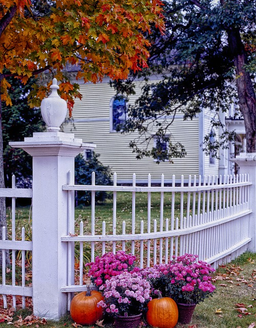 Vermont, Fall, Autumn, Seasons, Fence, House, Home