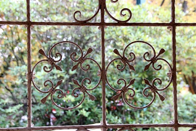 Grid, Ornaments, Art, Fence, Old Antique, Pattern, Goal