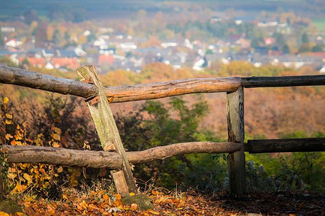 Fence, Pile, Autumn, Post, Fence Post, Village