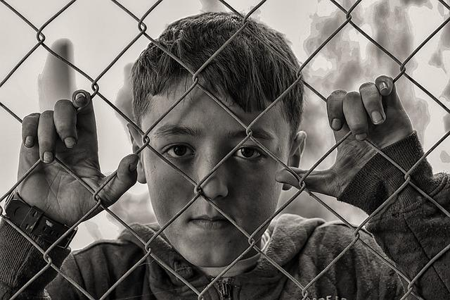 Boy, Hungry, Sad, Fence, Desperate, Poor, Child