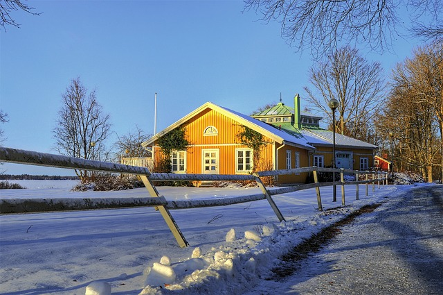 Tree, Fence, House, Näsudden, Värnamo, Sweden, Outdoor