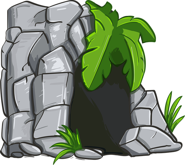 Cave, Stone, Rock, Fern, Paleozoic Era, Entrance