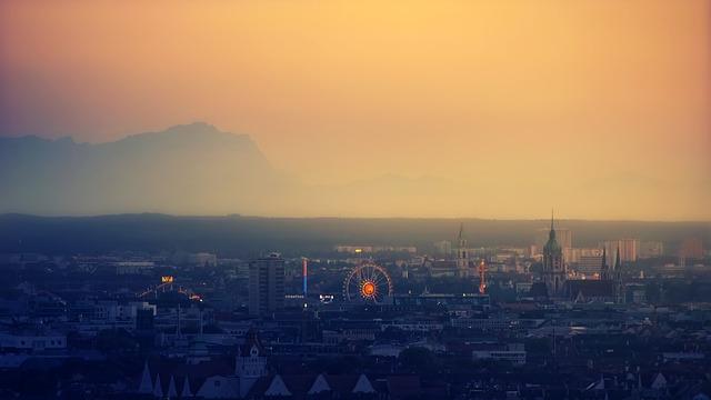 Oktoberfest, Munich, Bavaria, Ferris Wheel, Evening