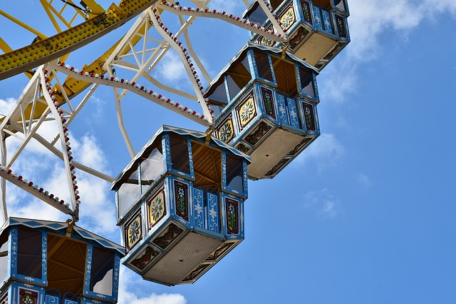 Ferris Wheel, Gondolas, Ride, Cabins, Folk Festival
