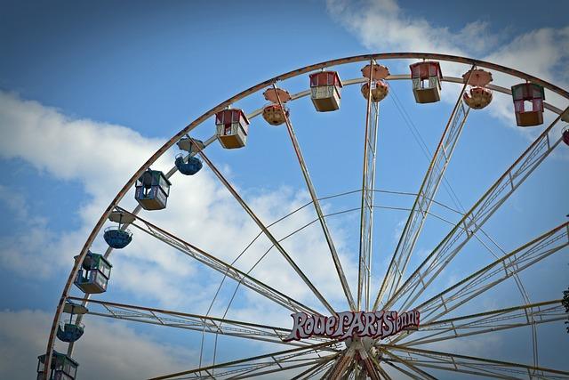 Ferris Wheel, Carousel, Year Market, Folk Festival