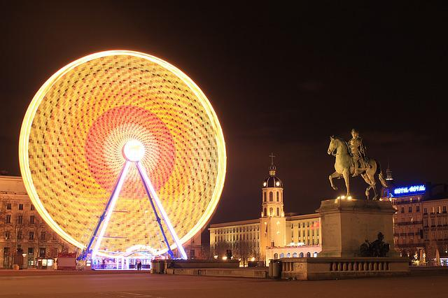 Lyon, Wheel, Ferris Wheel, Place Bellecour