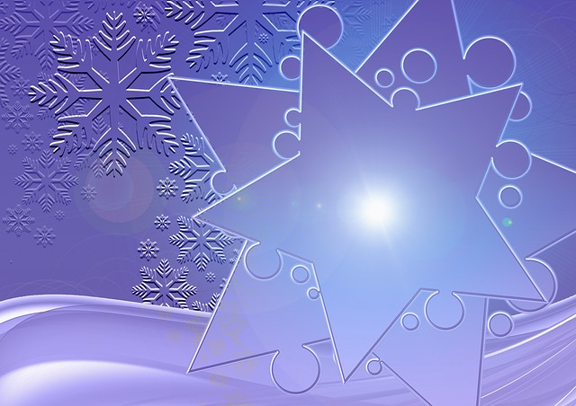 Greeting Card, Blue, Snowflakes, Christmas, Festival
