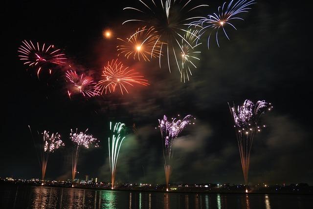 Fireworks, Colorful, Sky, Night, Japan, Festival