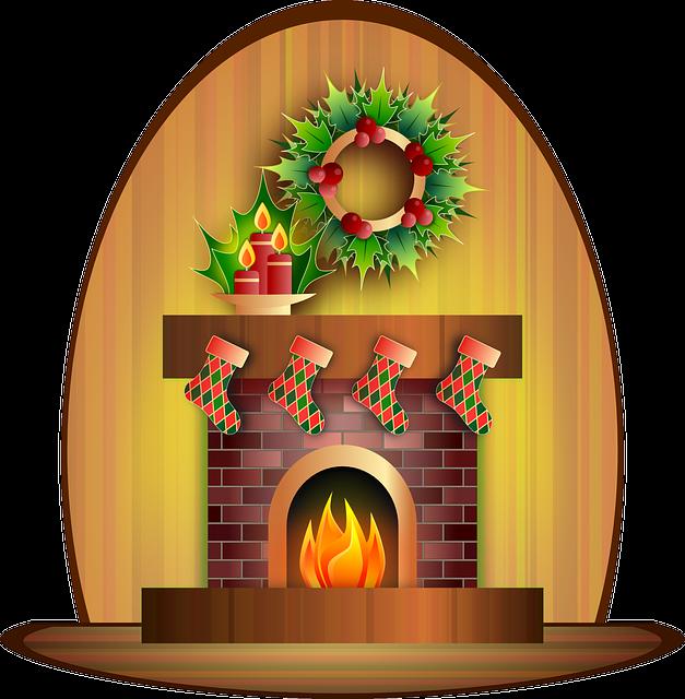 Fireplace, Candle, Celebration, Christmas, Festive