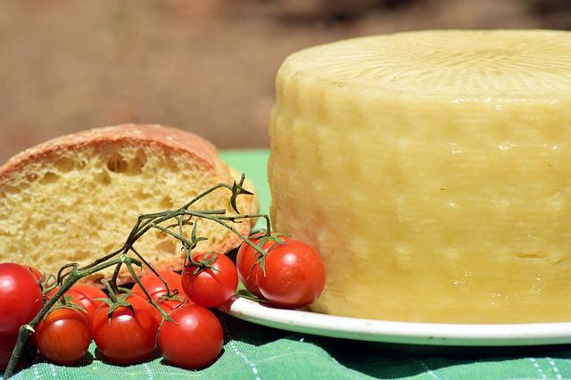 Cheese, Feta Cheese, Cheese Loaf, Tomatoes, Bread