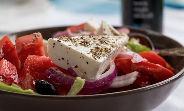 Greek Salad, Feta, Shell, Vegetables, Tomatoes, Red