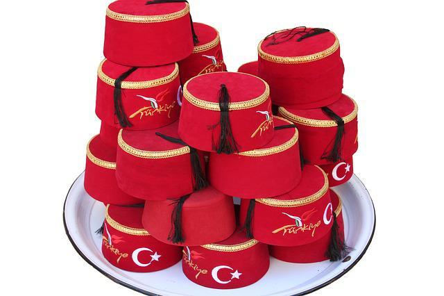 Turkey, Fez, Headwear, Hat, Red Felt, Tassel
