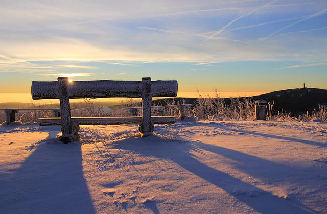 Fichtelberg, Ore Mountains, Keilberg, Bank, Sunrise