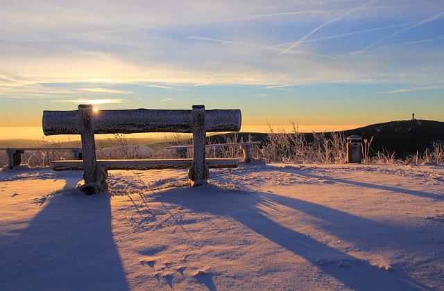 Fichtelberg, Ore Mountains, Keilberg, Bank, Sunrise