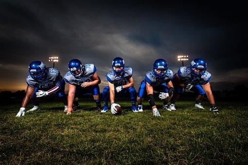 Athletes, Ball, Field, Football, Football Players, Game
