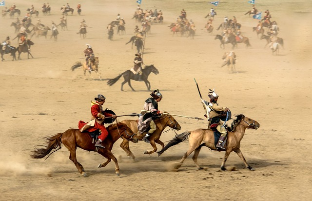 Horse, Mongolia, Warrior, War, Battle, Field