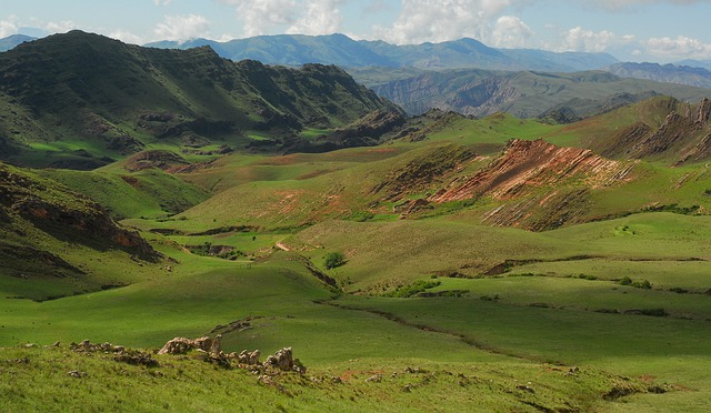 Andean Landscape, Green, Mountain, Valley, Grass, Field