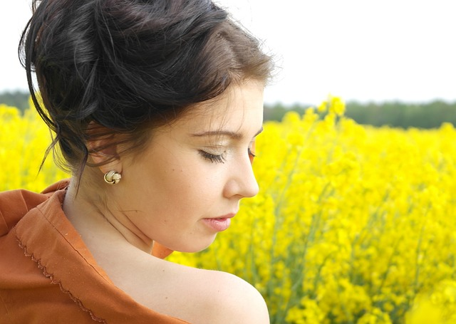 Femininity, Field Of Rapeseeds, Summer, Nature, Field