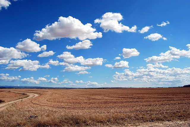 Field, Clouds, Sky, Agriculture, Horizon, Plowing