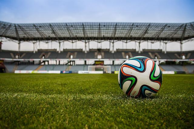 Football, Ball, Stadium, Game, Sport, Field, Closeup