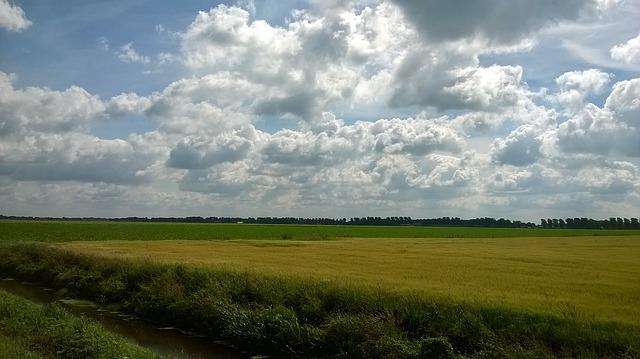 Holland, The Netherlands, Fields, Landscape, Clouds