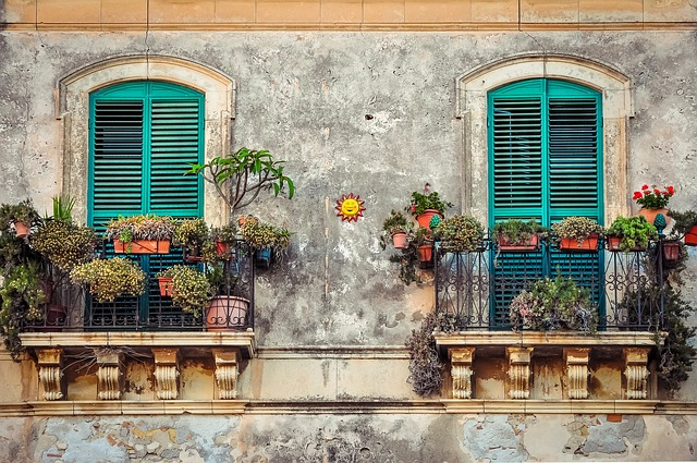 Balcony, Cuba, House, Color, Fiesta, Venice, Italy