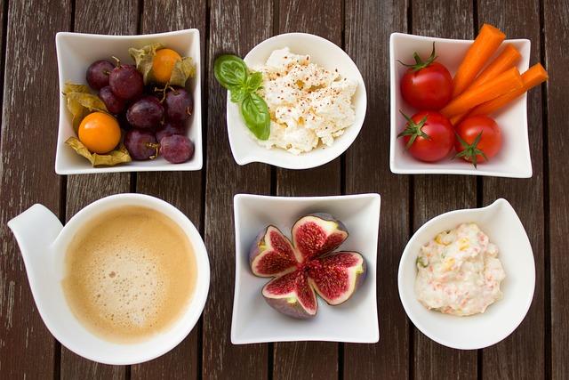 Breakfast, Vegetables, Coffee, Fig, Fruit, Cheese