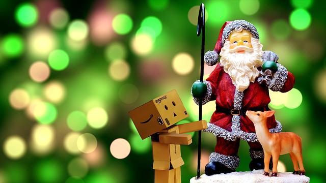 Christmas, Santa Claus, Danbo, Cute, Fig, Decoration