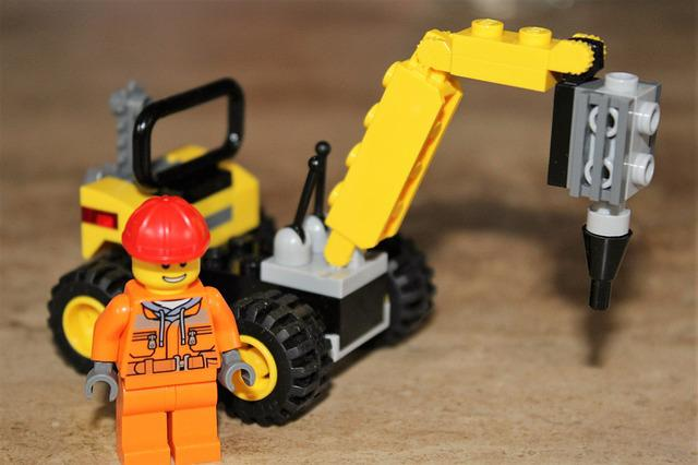 Lego, Toys, Excavators, Fig, Building Blocks, Play