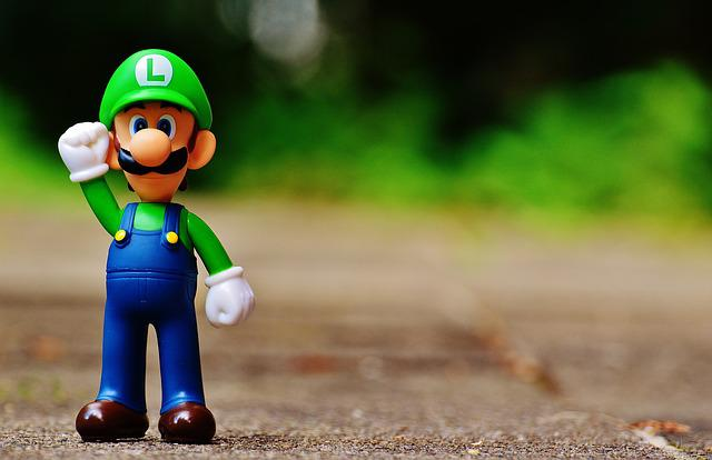 Luigi, Fig, Play, Nintendo, Super, Retro, Classic