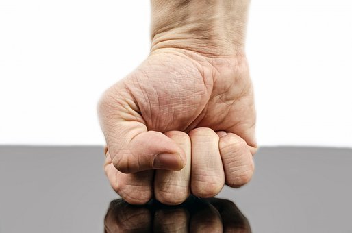 Punch, Fist, Hand, Strength, Isolated, Human, Fight