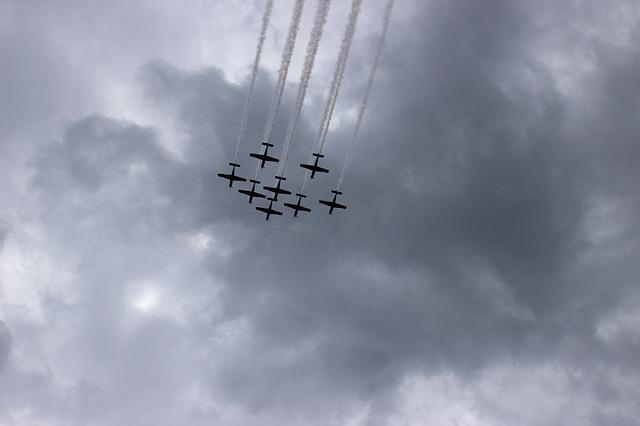 Aircraft, Chic, Fighters, The Military, Parade, Sky