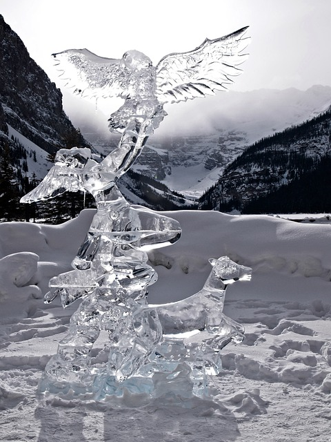 Lake Louise, Alberta, Canada, Ice Carving, Figure