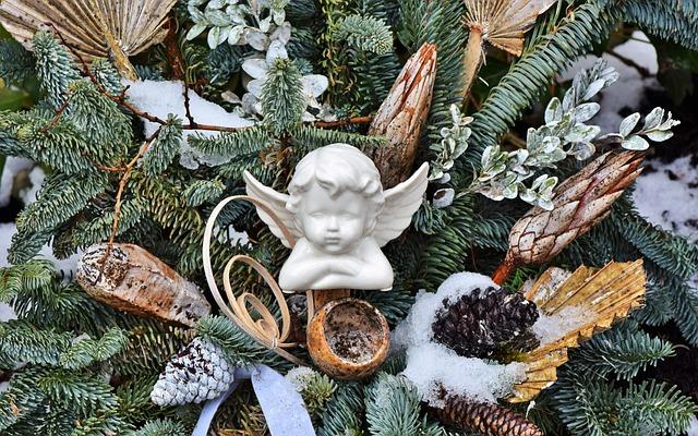 Angel, Engelskopf, Figure, Wing, Ceramic, Faith
