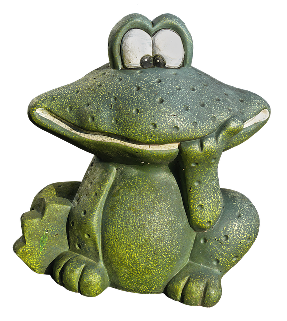 Frog, Green, Figure, Ceramic, Animal Figure, Decoration