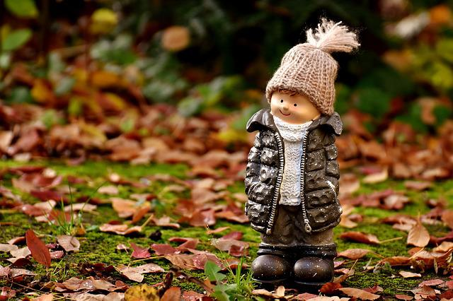 Boy, Figure, Deco, Forest, Autumn, Cold, Cap