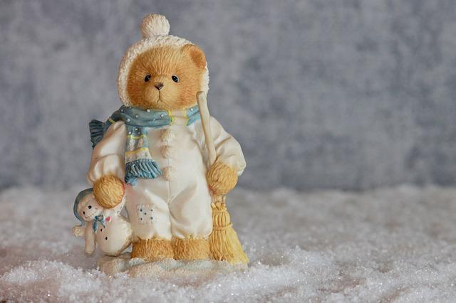 Winter, Bear, Bears, Figure, Decoration, Snow Man, Toys