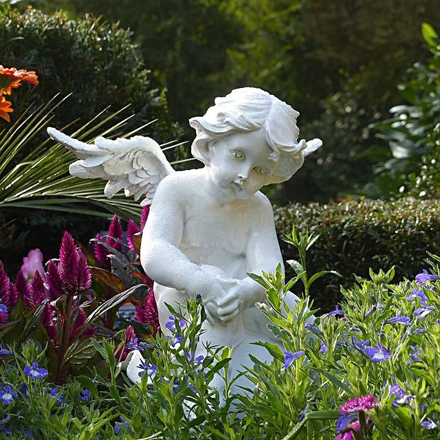Angel, Figure, Sitting, Cemetery