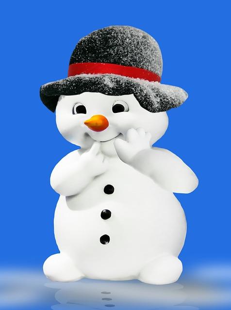 Winter, Snowman, Figure, Christmas, Deco, Funny