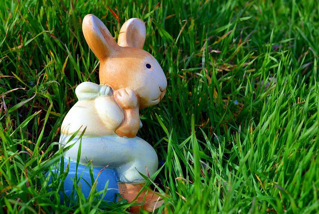 Hare, Easter Bunny, Easter, Cute, Grass, Figure