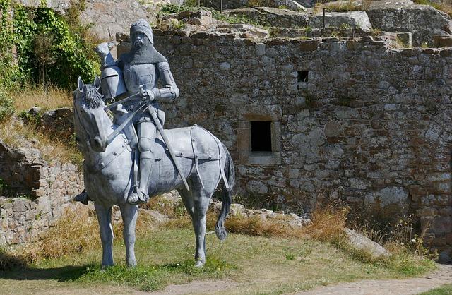 Jersey, Castle, Orgueil, Knight, Horse, Reiter, Figure