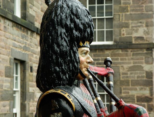 Figure, Museum, Pipe, Scotland, Edinburgh, Musician