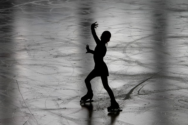 Figure Skating, Runner, Figure Skater, Silhouette